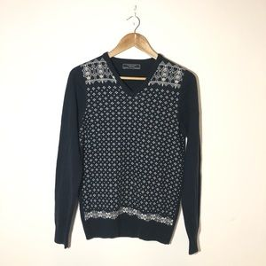 Zara Man Navy Knit Sweater Size M